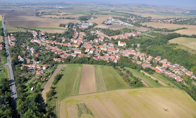 Letecký snímek obce 01