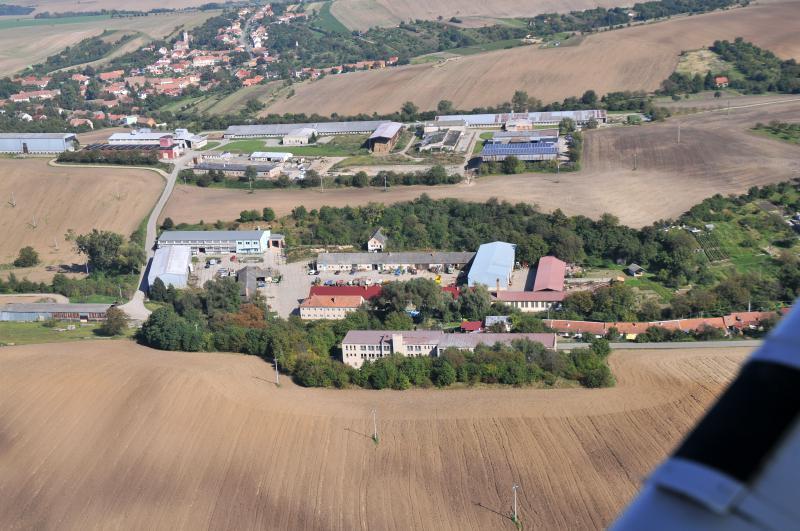 Letecký snímek obce 06