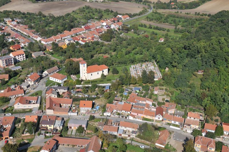 Letecký snímek obce 08