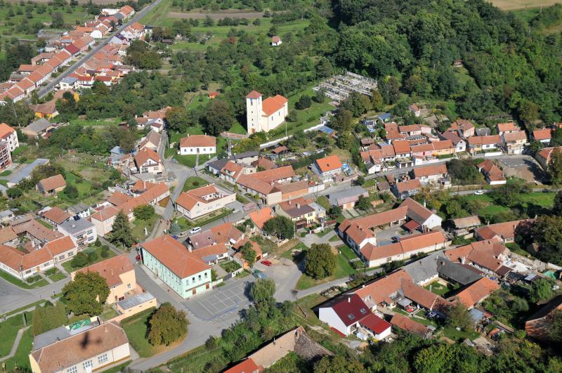 Letecký snímek obce 30