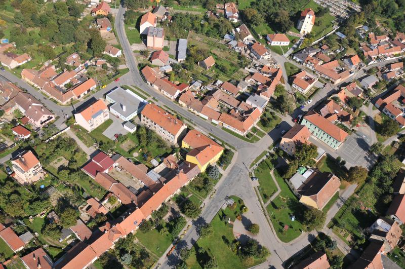 Letecký snímek obce 42