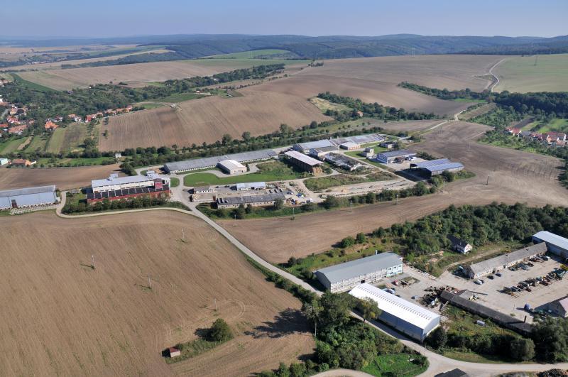 Letecký snímek obce 48