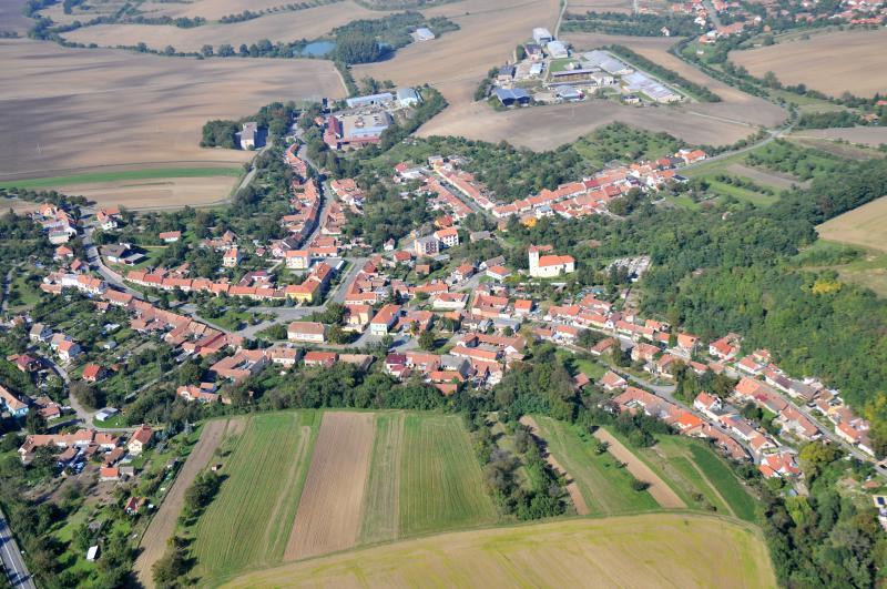 Letecký snímek obce 58