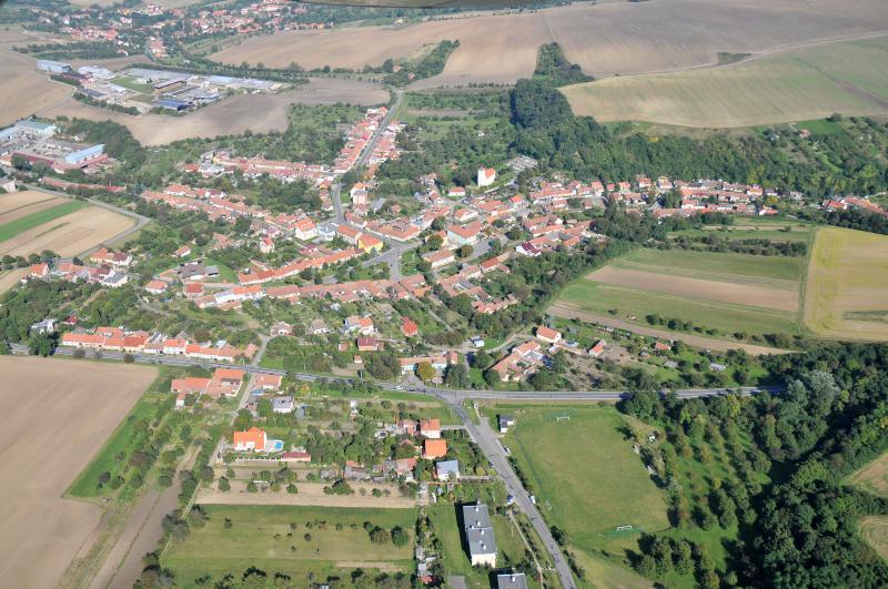 Letecký snímek obce 60