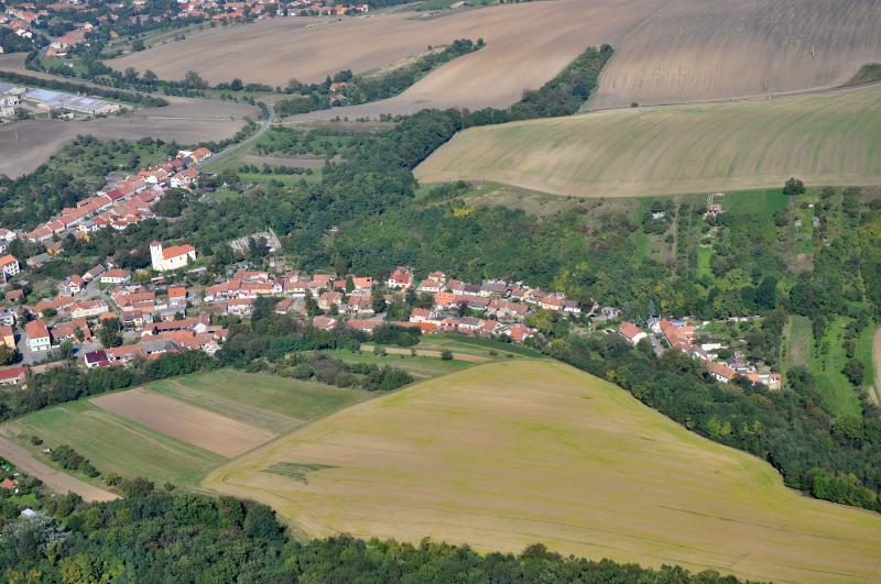 Letecký snímek obce 62