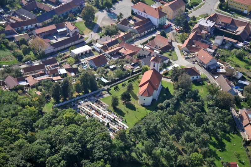 Letecký snímek obce 67