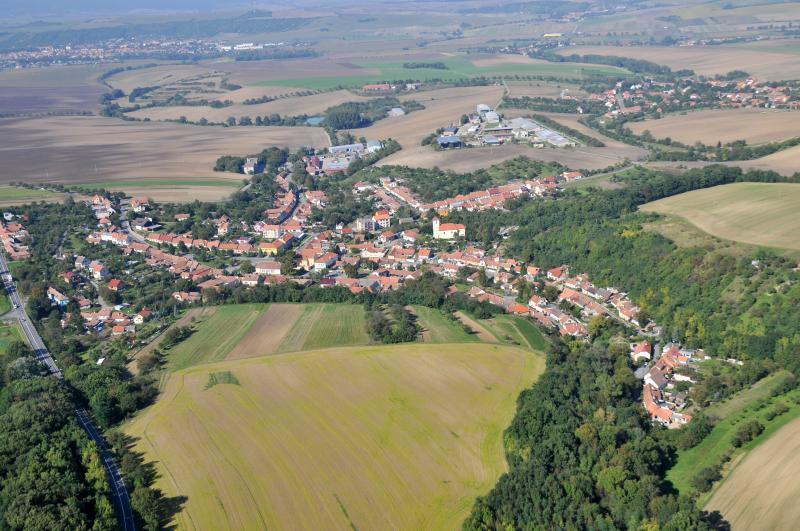 Letecký snímek obce 68