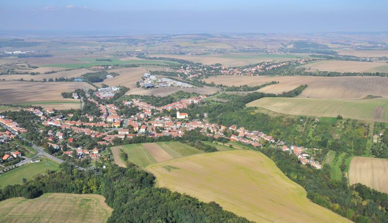 Letecký snímek obce 69