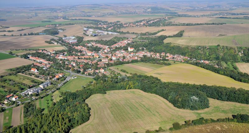 Letecký snímek obce 70
