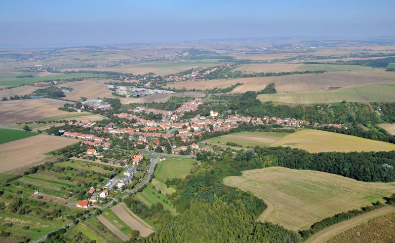 Letecký snímek obce 71