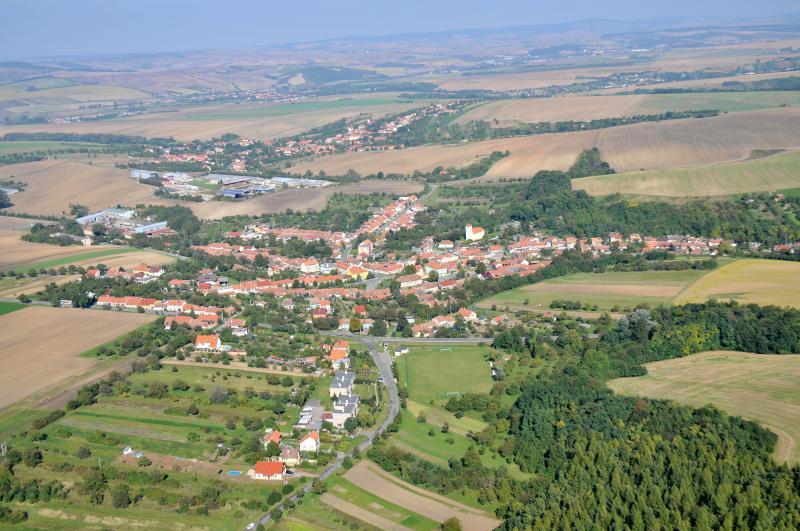 Letecký snímek obce 72