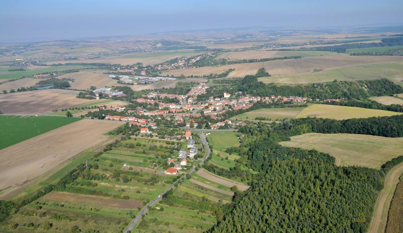 Letecký snímek obce 73