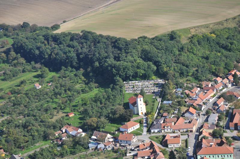 Letecký snímek obce 76