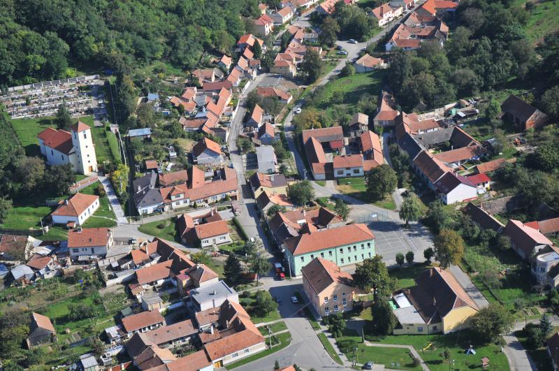 Letecký snímek obce 77