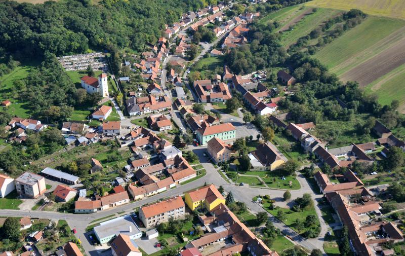Letecký snímek obce 78