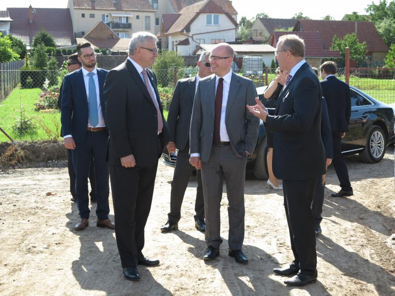 Návštěva premiéra Bohuslava Sobotky